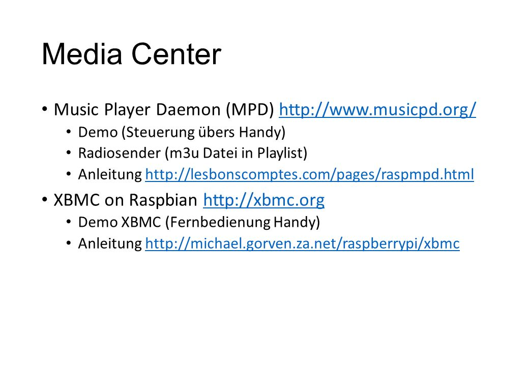 Media Center Music Player Daemon (MPD) http://www.musicpd.org/