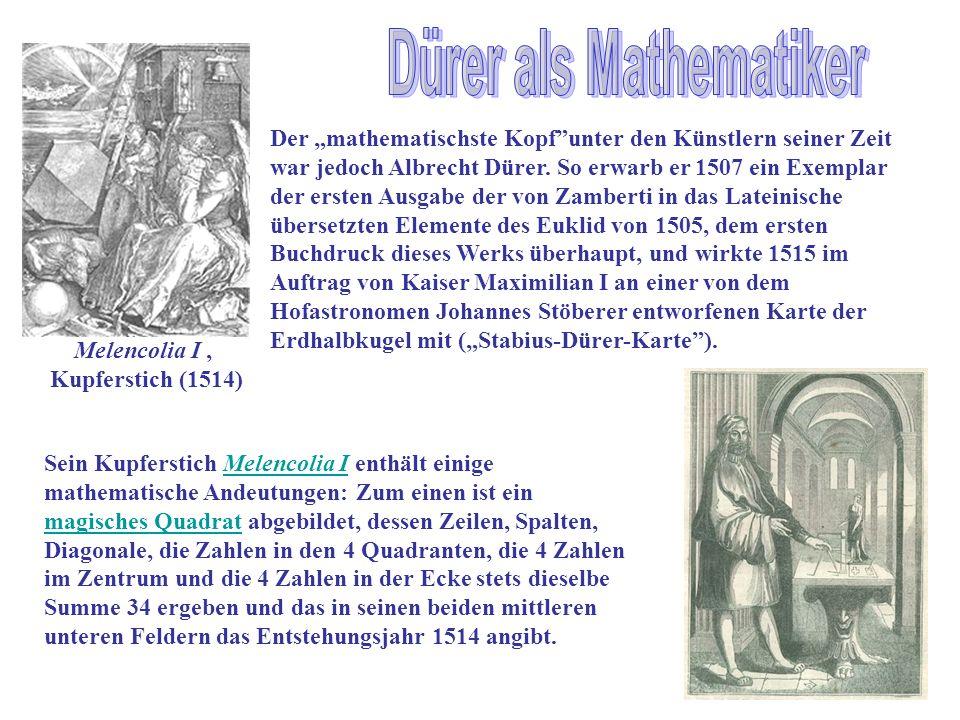 11 drer als mathematiker - Albrecht Drer Lebenslauf