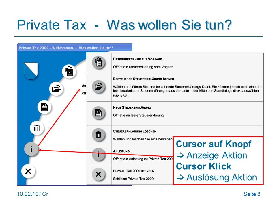 Private Tax - Was wollen Sie tun