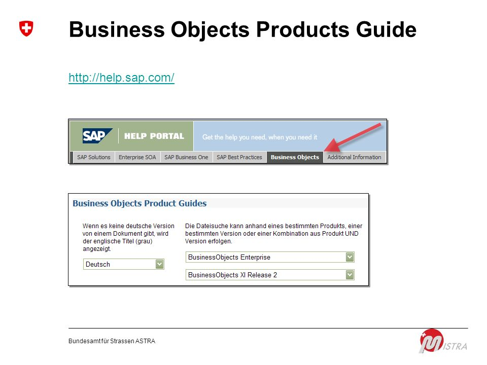 Business Objects Products Guide