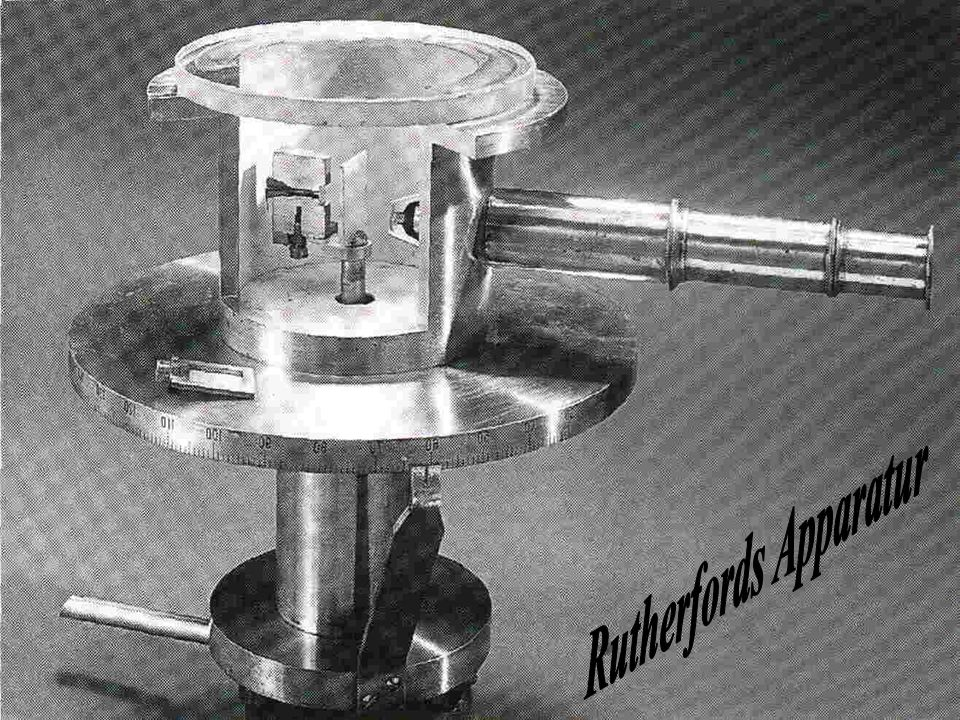 Rutherfords Apparatur