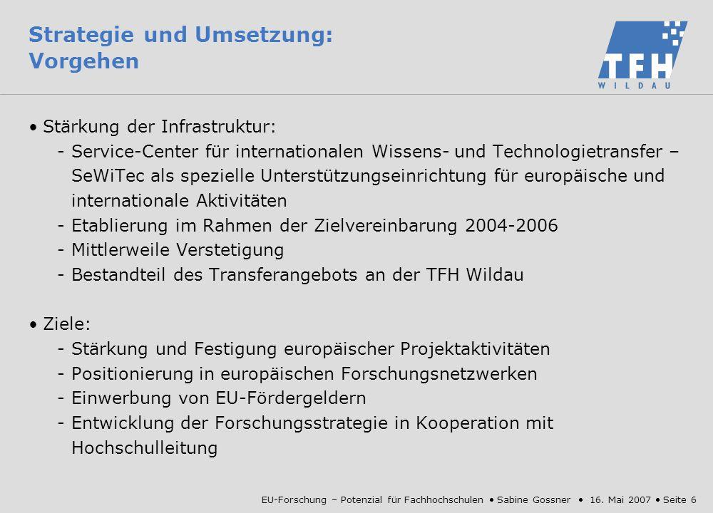 EU-Forschungsförderung: Potenzial für Fachhochschulen - ppt ...