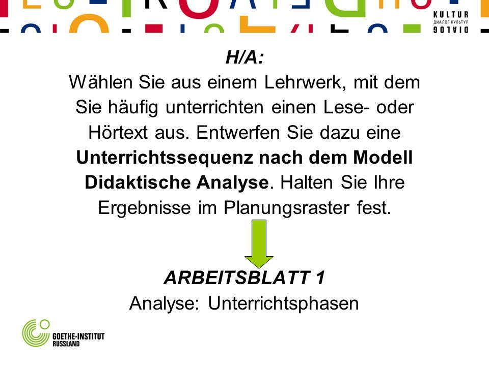 Deutschunterricht planen Arbeit mit Lehrwerklektionen Präsenzphase 3 ...