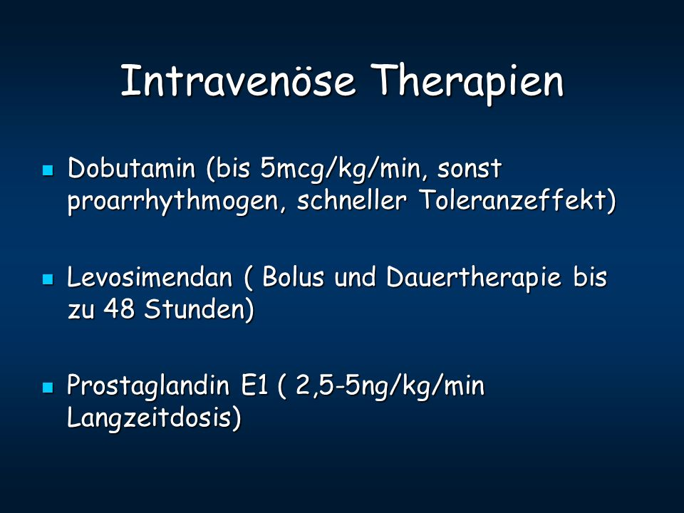 Intravenöse Therapien