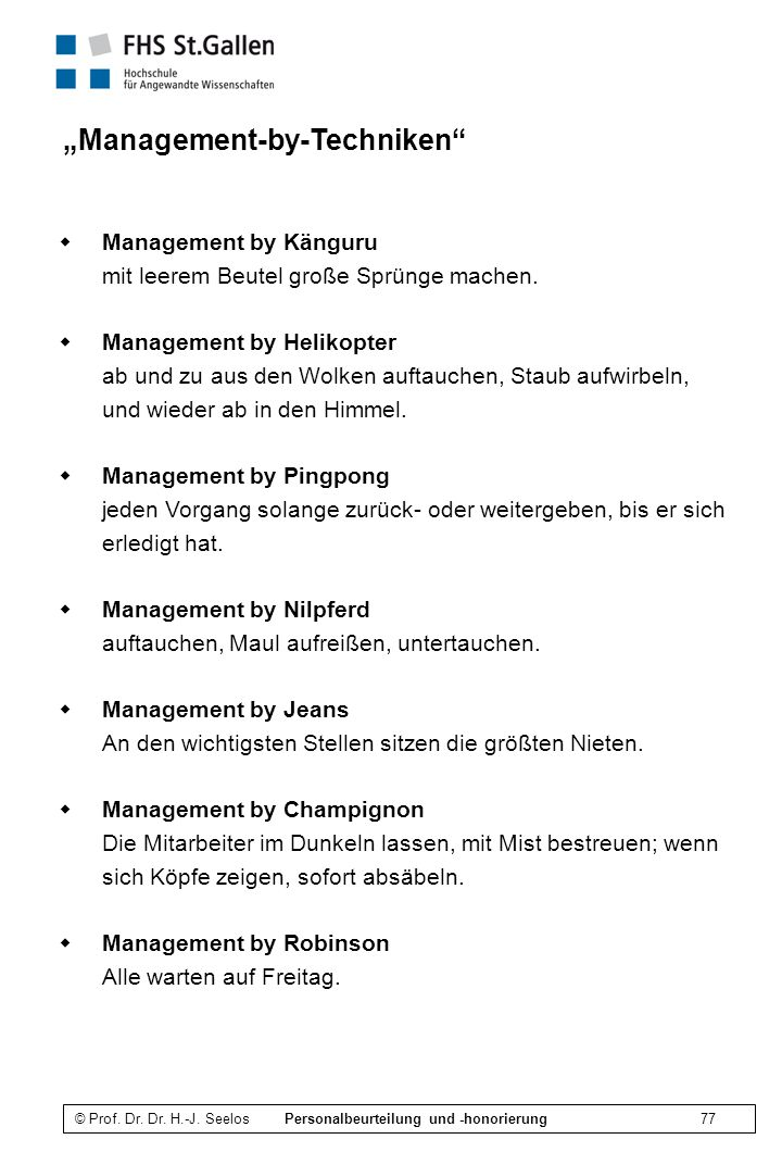 """Management-by-Techniken"
