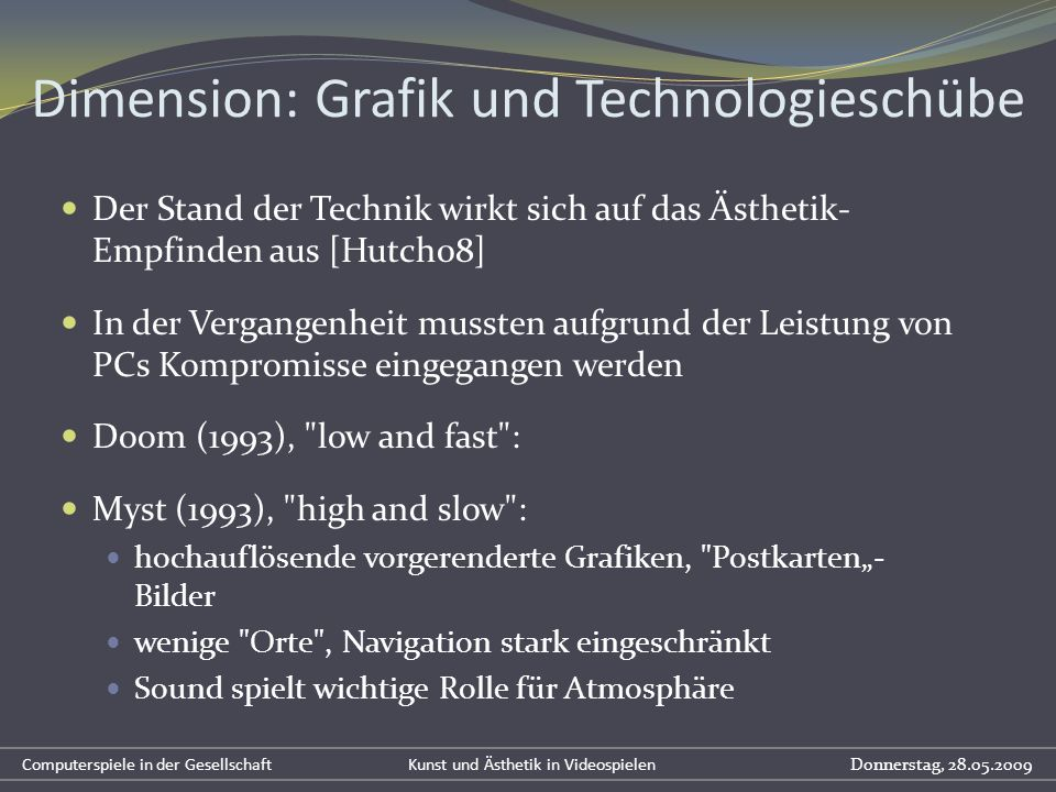 Dimension: Grafik und Technologieschübe