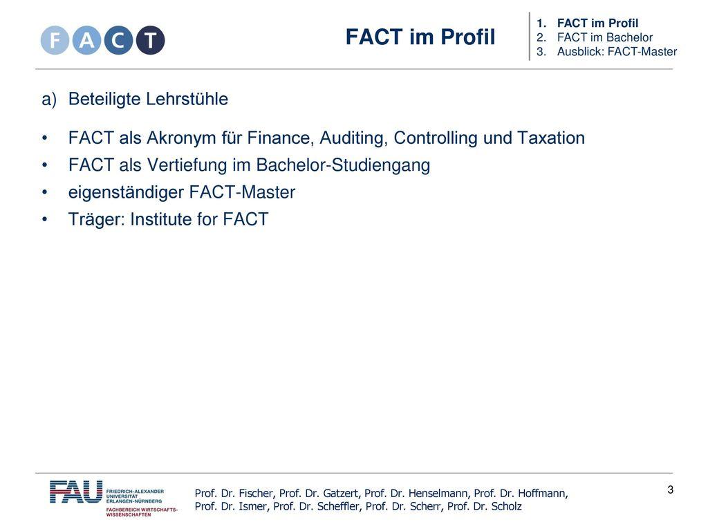 Studienbereich Fact Im Bachelor Wirtschaftswissenschaften Ppt
