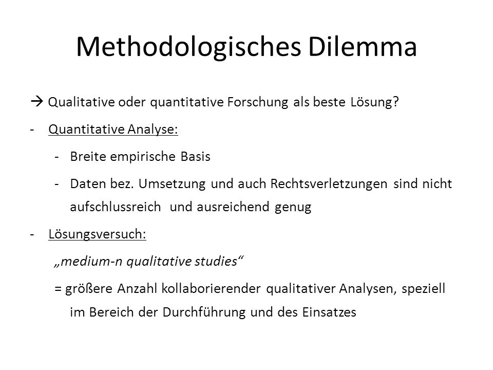 Methodologisches Dilemma