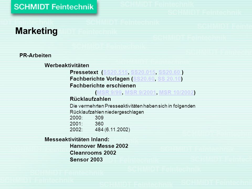 Marketing PR-Arbeiten
