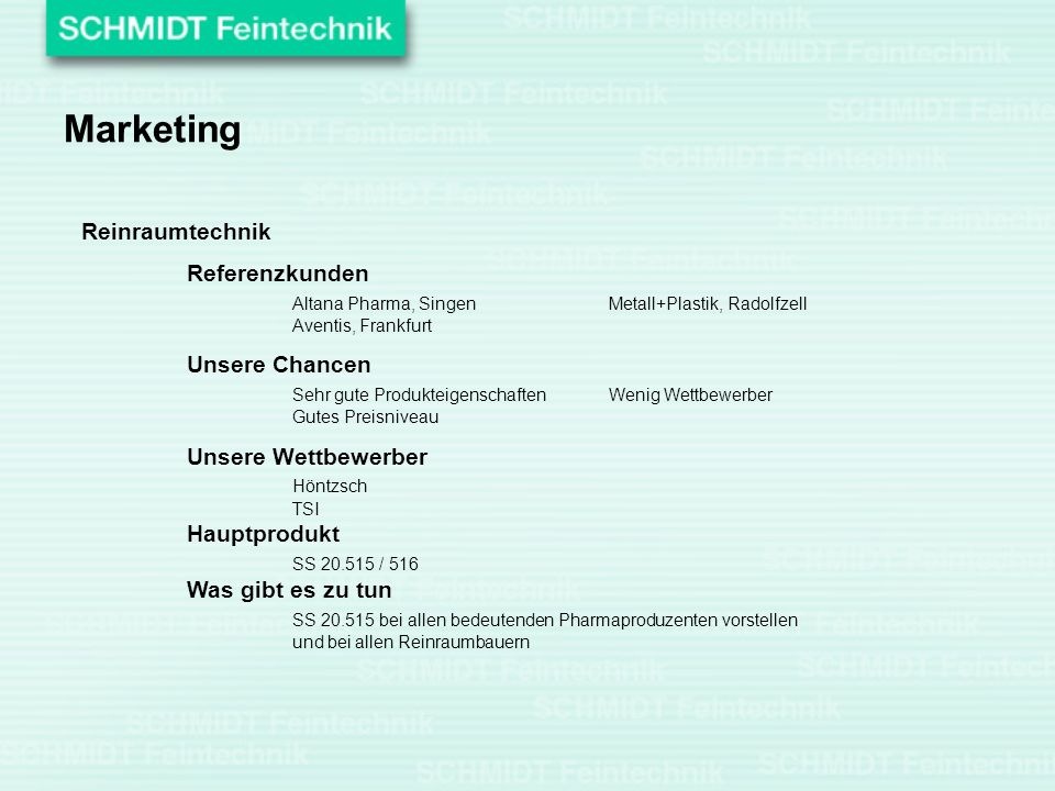 Marketing Reinraumtechnik