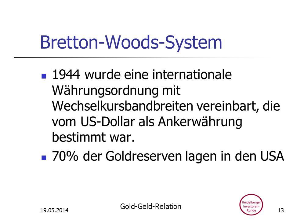 Bretton-Woods-System