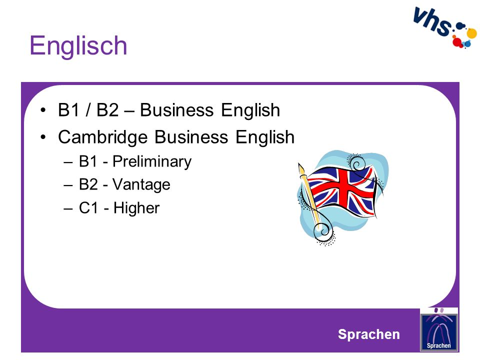 Englisch B1 / B2 – Business English Cambridge Business English