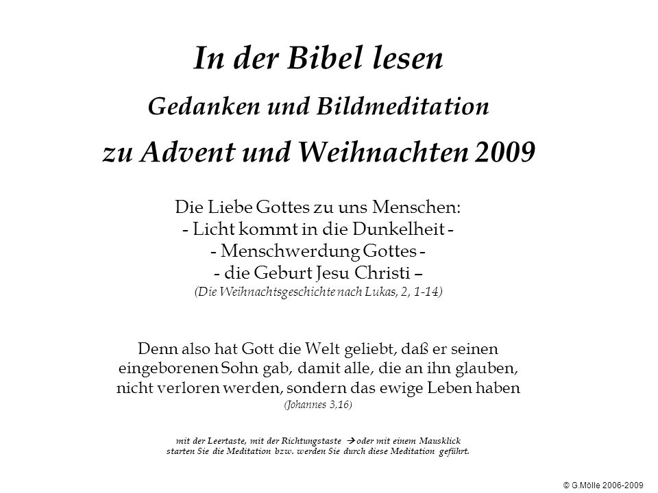 In Der Bibel Lesen Gedanken Und Bildmeditation Zu Advent Und