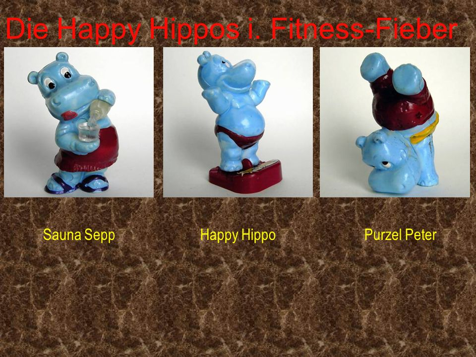 Die Happy Hippos i. Fitness-Fieber