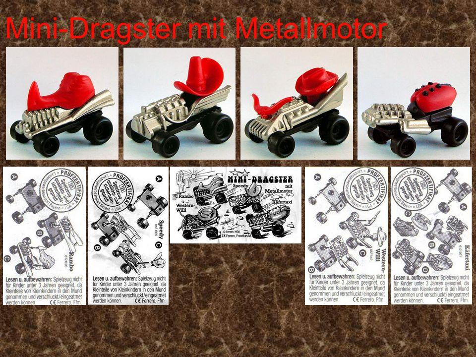 Mini-Dragster mit Metallmotor
