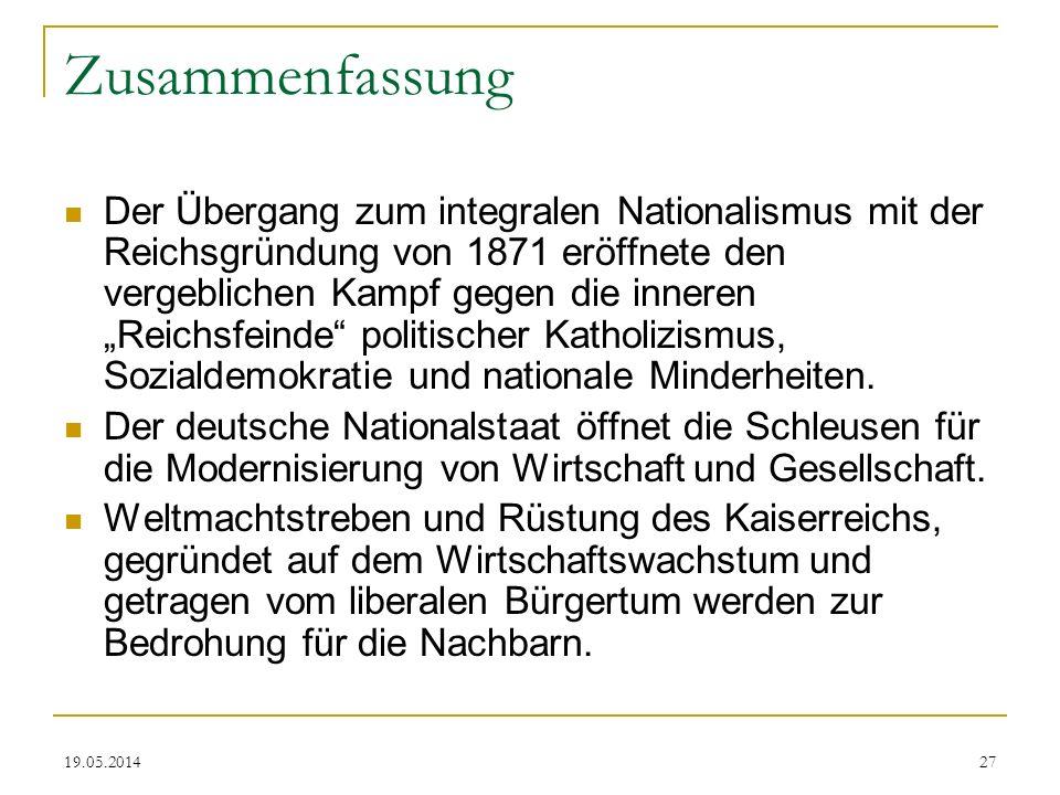 Das Deutsche Kaiserreich 1871 Bis 1918 Zusammenfassung
