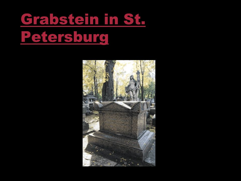 Grabstein in St. Petersburg