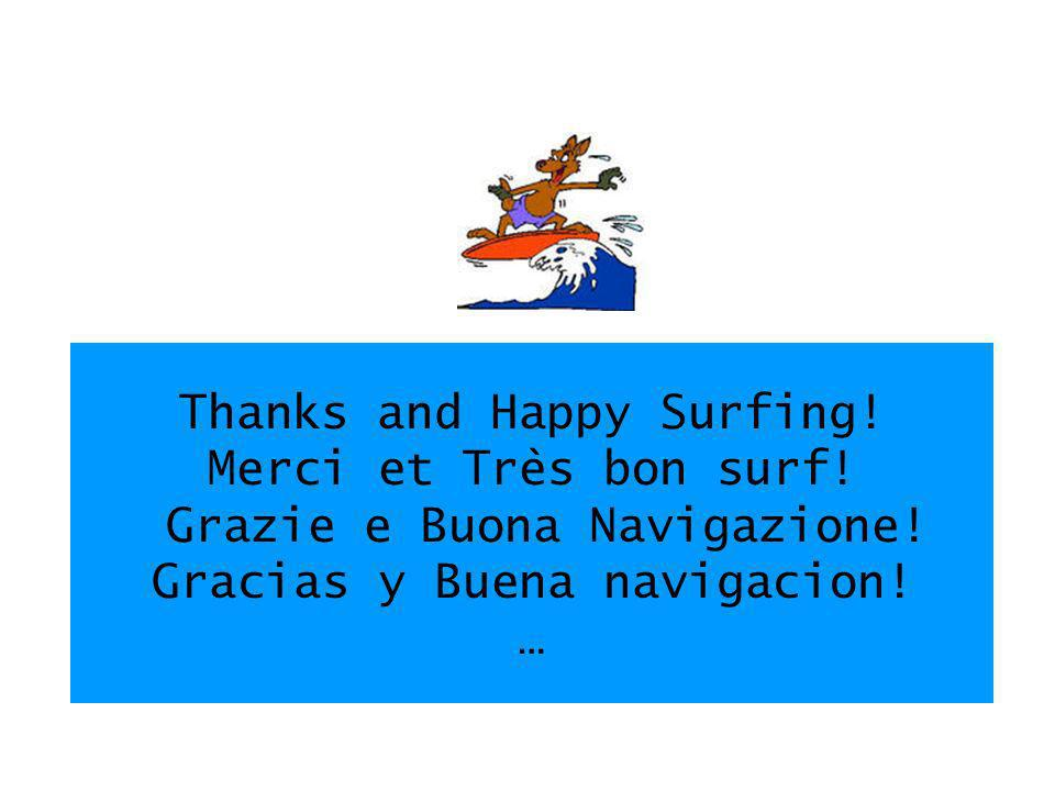 Thanks and Happy Surfing. Merci et Très bon surf