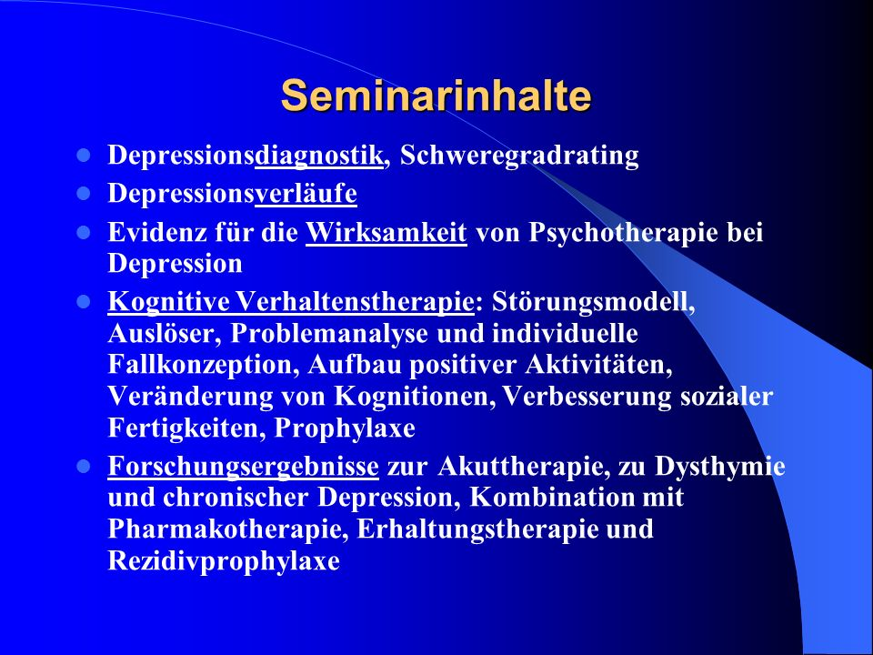 kognitive verhaltenstherapie bei depressionen mit online materialien