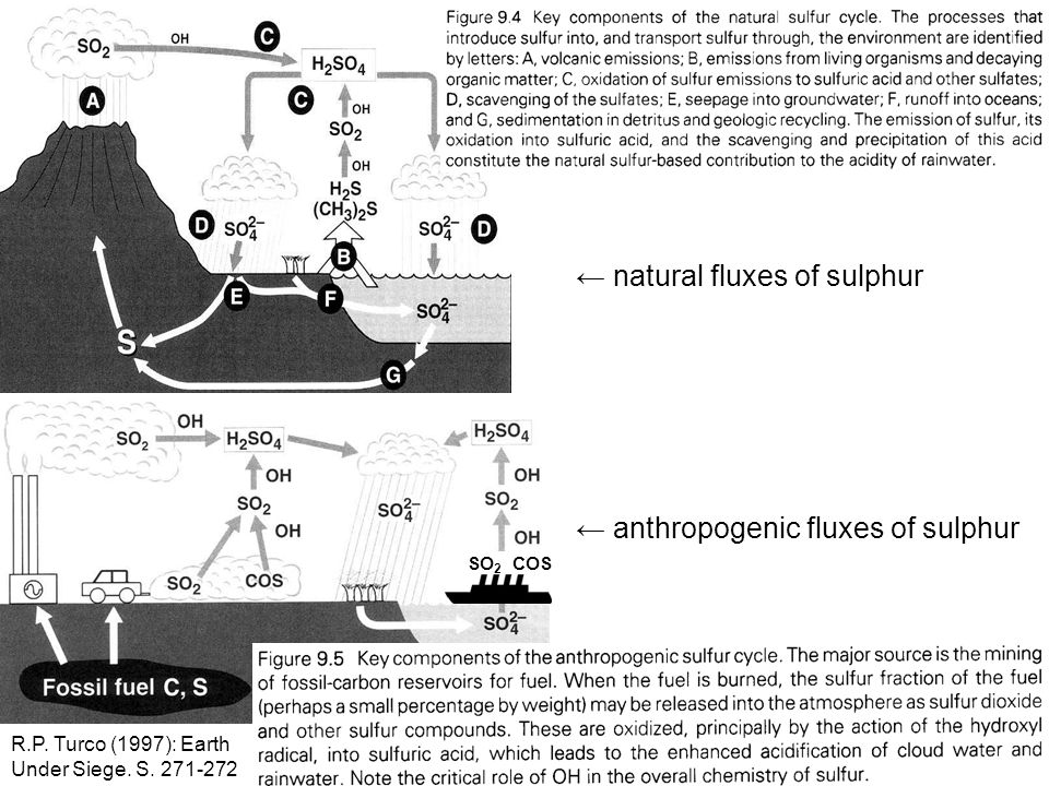 ← natural fluxes of sulphur
