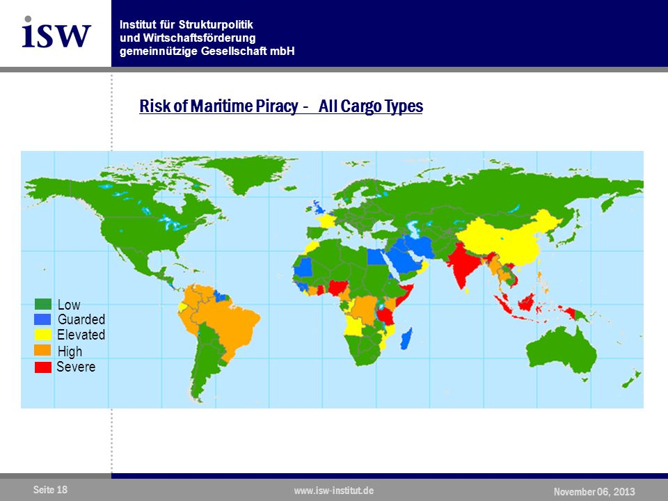 Risk of Maritime Piracy - All Cargo Types