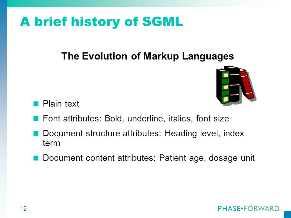 The Evolution of Markup Languages
