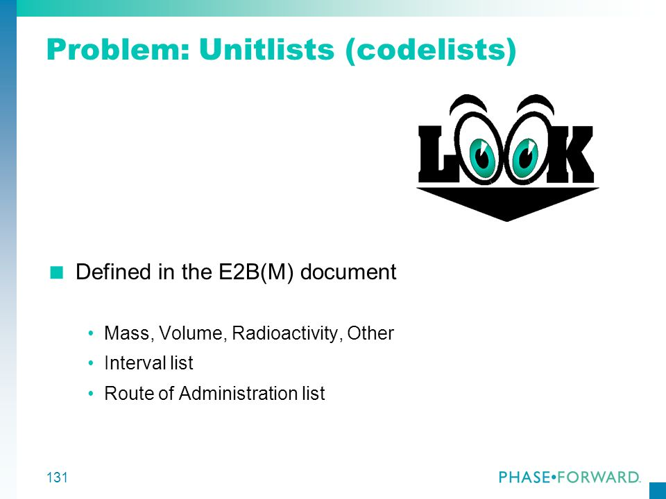 Problem: Unitlists (codelists)