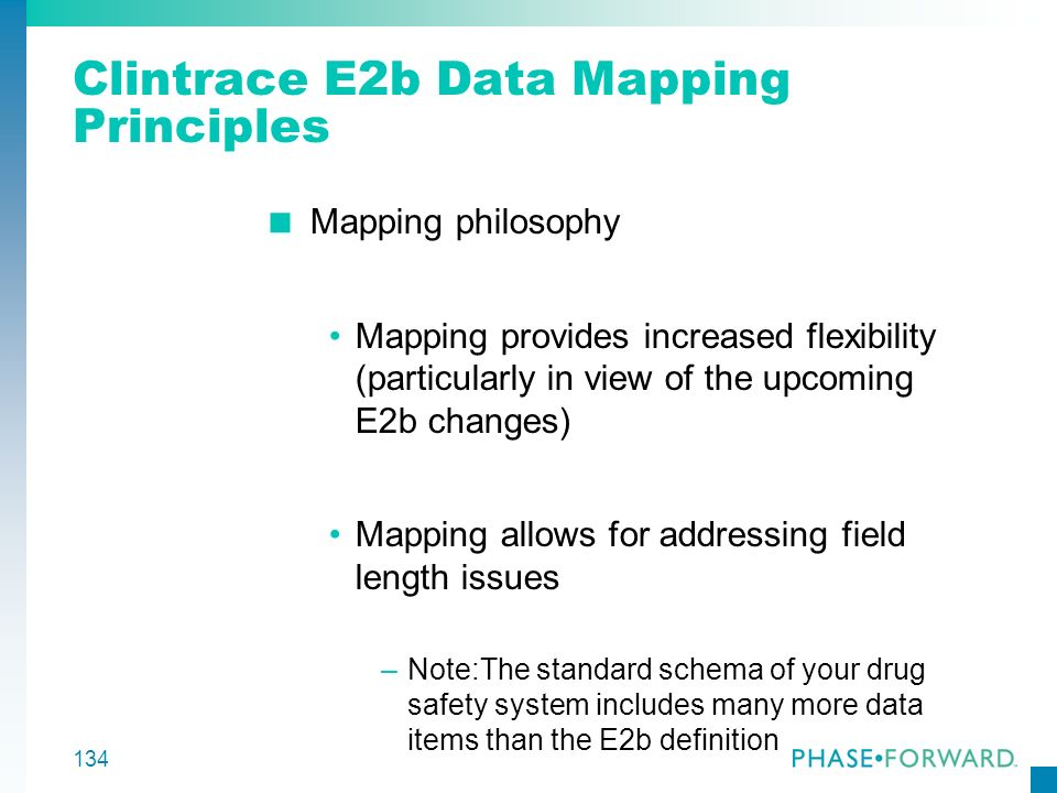 Clintrace E2b Data Mapping Principles