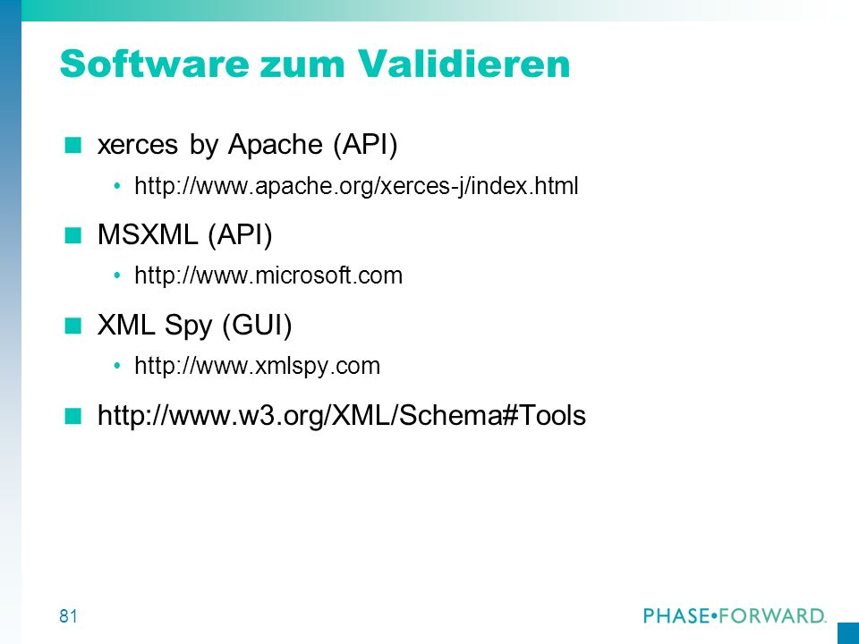 Software zum Validieren
