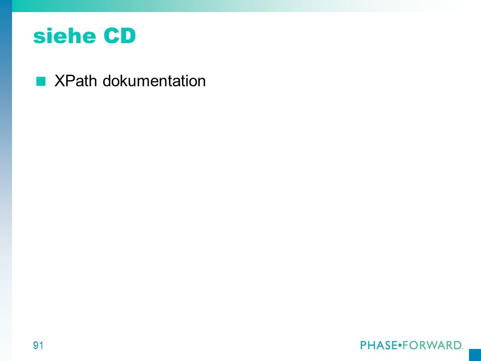 siehe CD XPath dokumentation