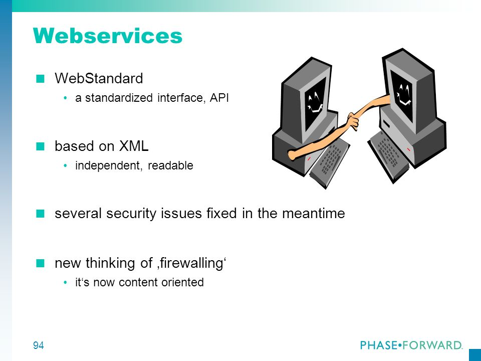 Webservices WebStandard based on XML