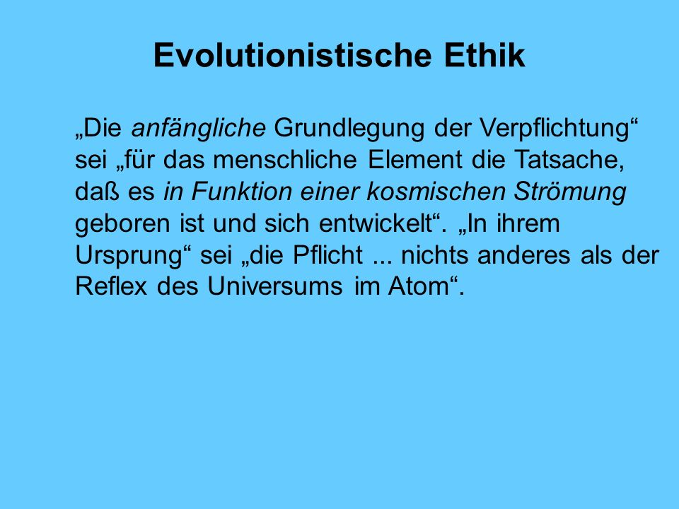 Evolutionistische Ethik