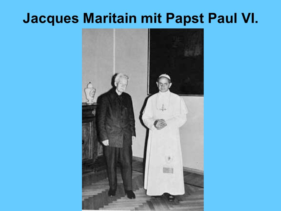 Jacques Maritain mit Papst Paul VI.