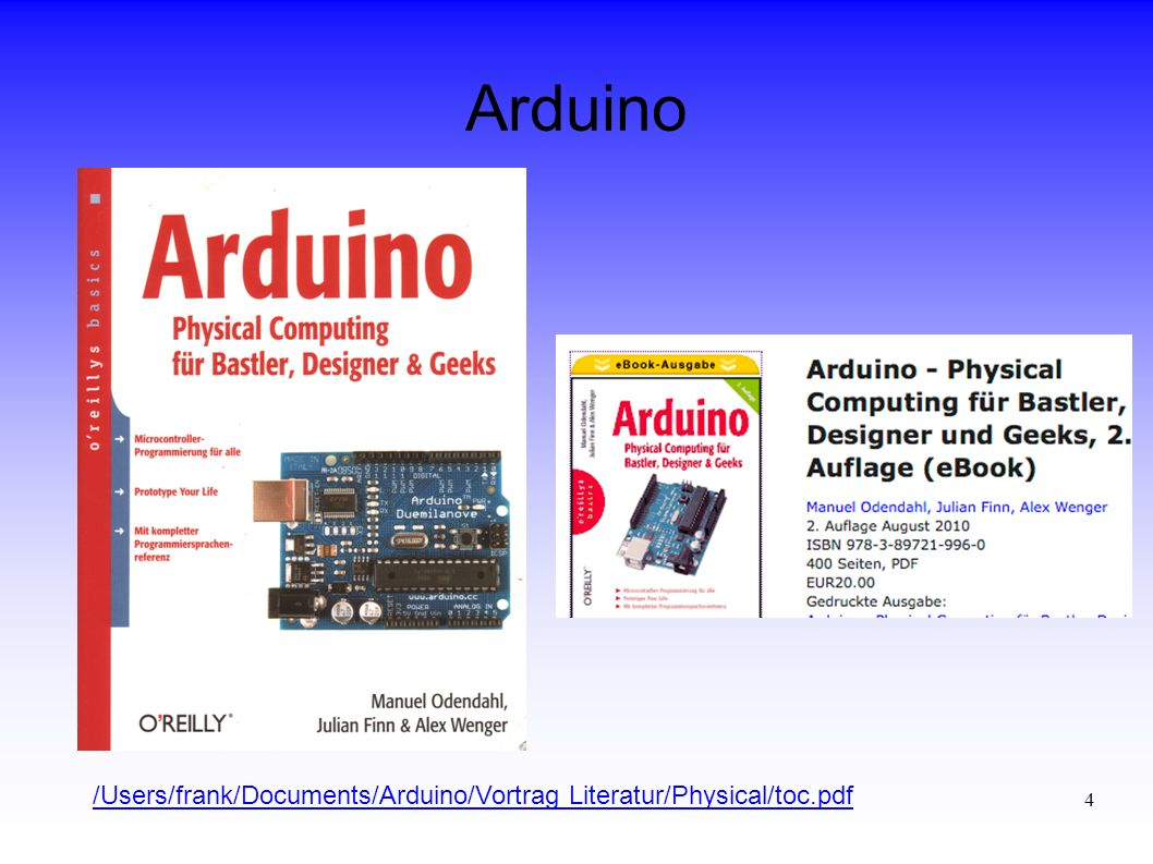 Arduino /Users/frank/Documents/Arduino/Vortrag Literatur/Physical/toc.pdf