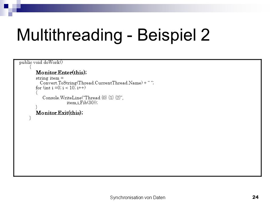 Multithreading - Beispiel 2