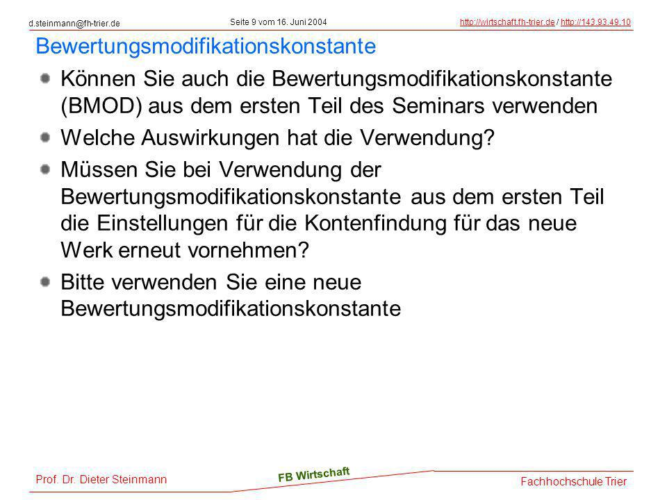 Bewertungsmodifikationskonstante