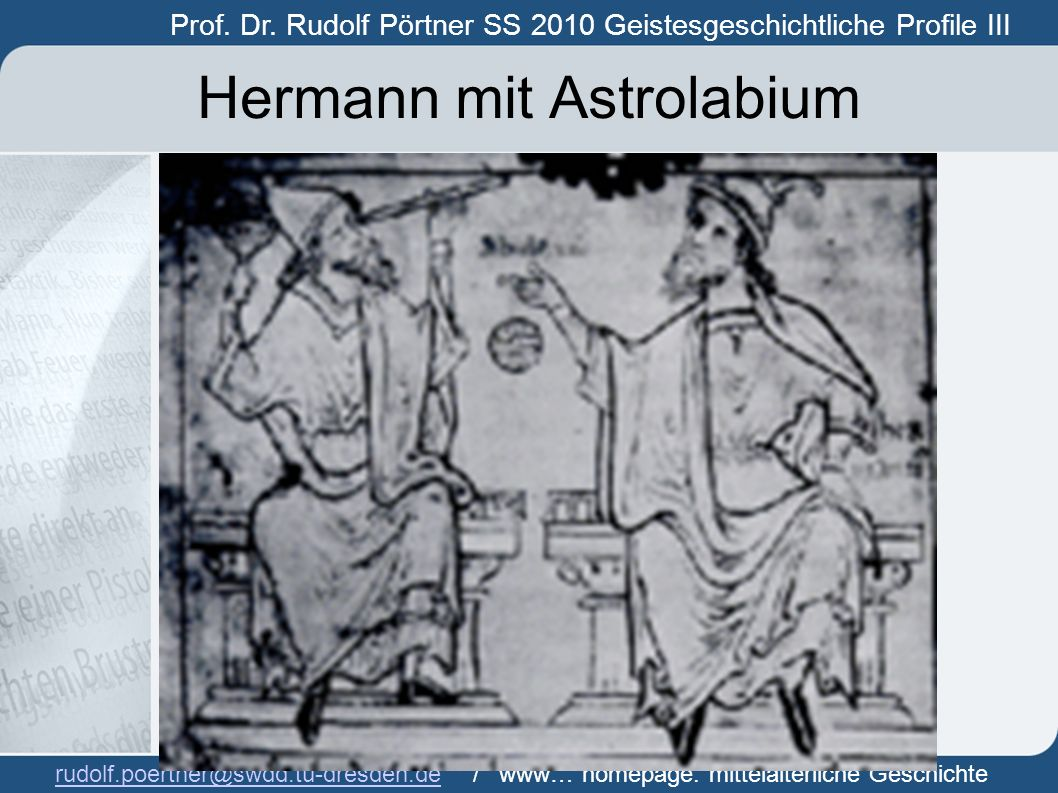 Hermann mit Astrolabium