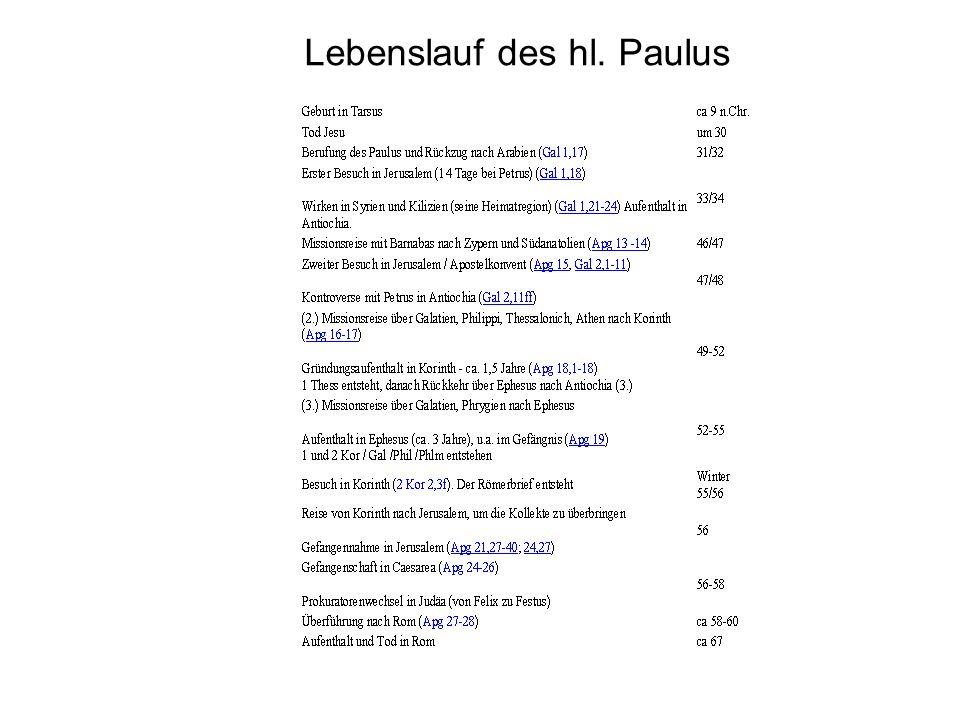 3 lebenslauf des hl paulus - Paulus Lebenslauf