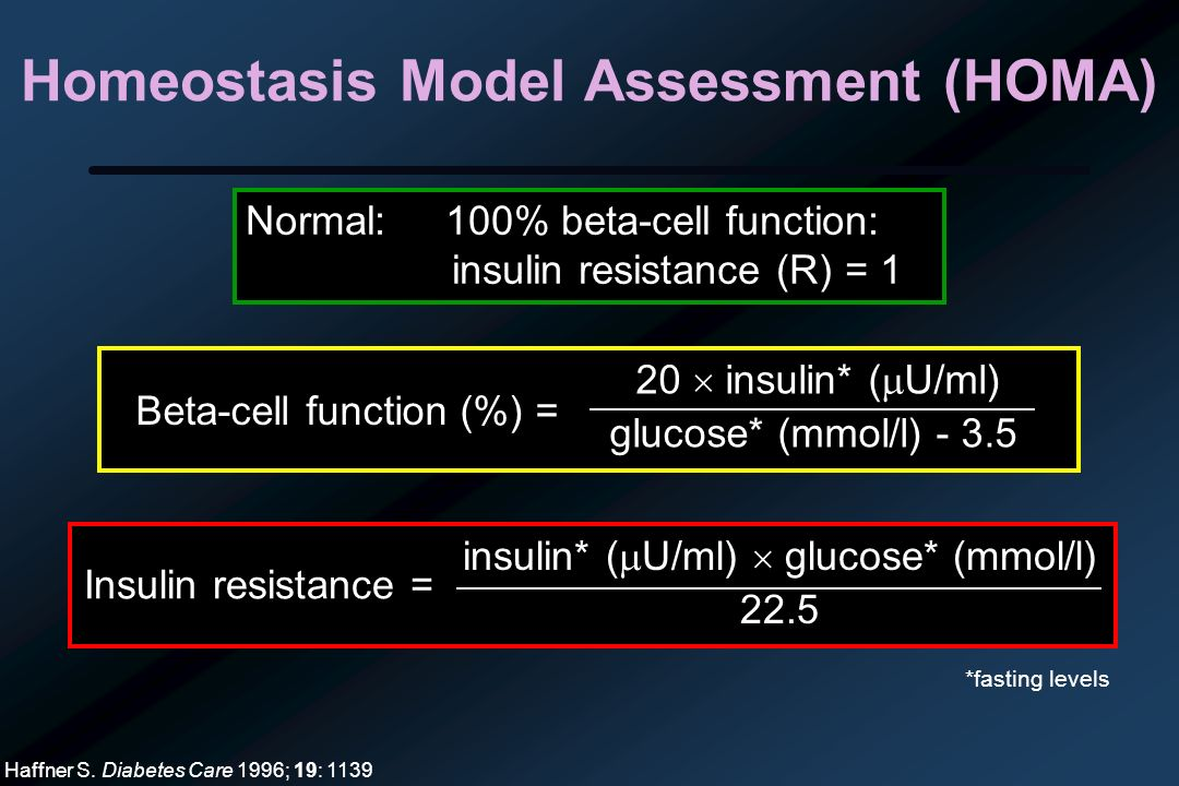 Homeostasis Model Assessment (HOMA)