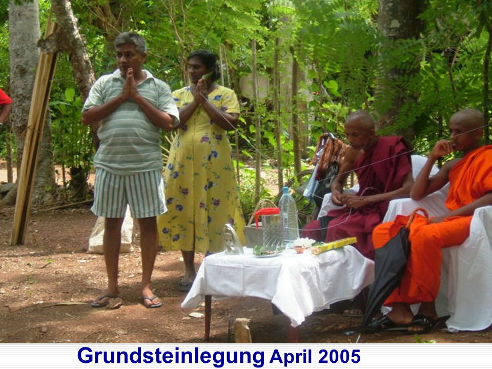 Grundsteinlegung April 2005
