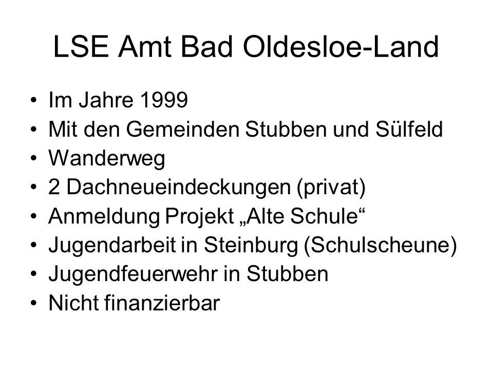 LSE Amt Bad Oldesloe-Land