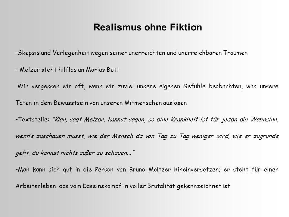 Realismus ohne Fiktion