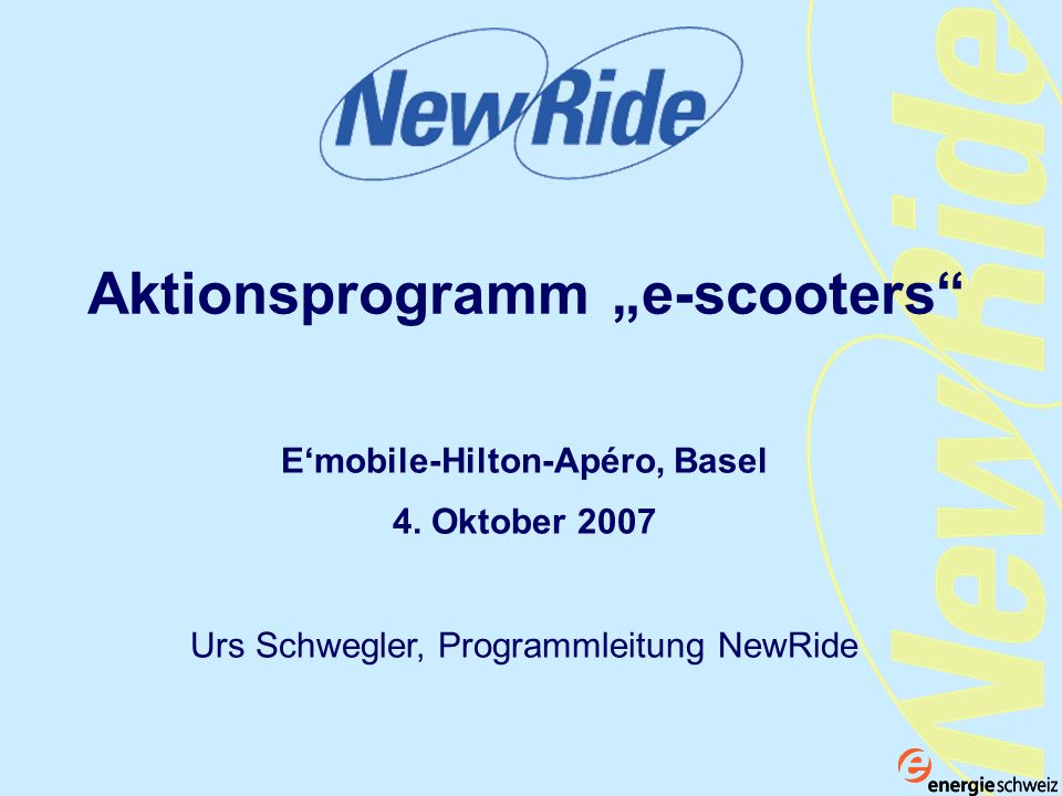 "Aktionsprogramm ""e-scooters"