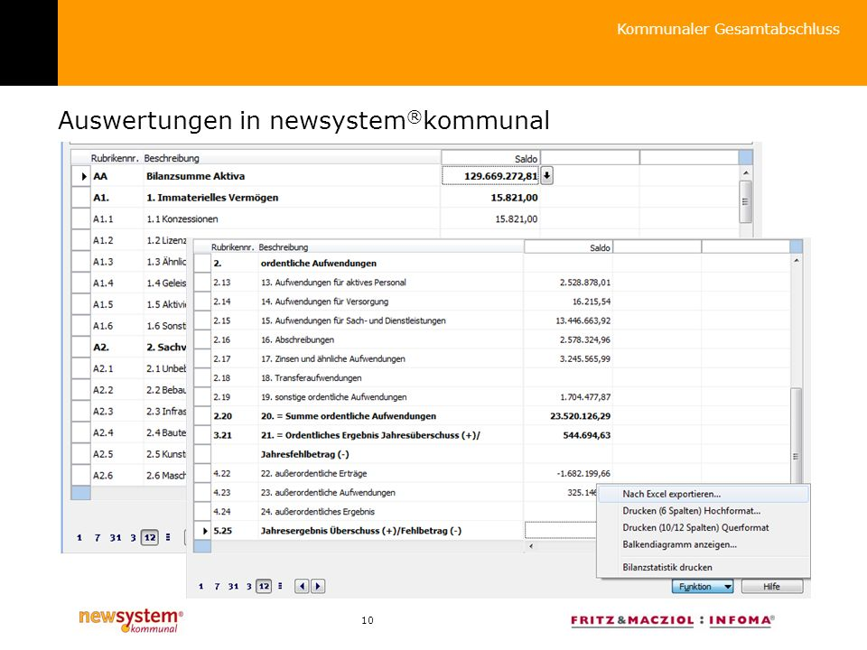 Auswertungen in newsystem®kommunal