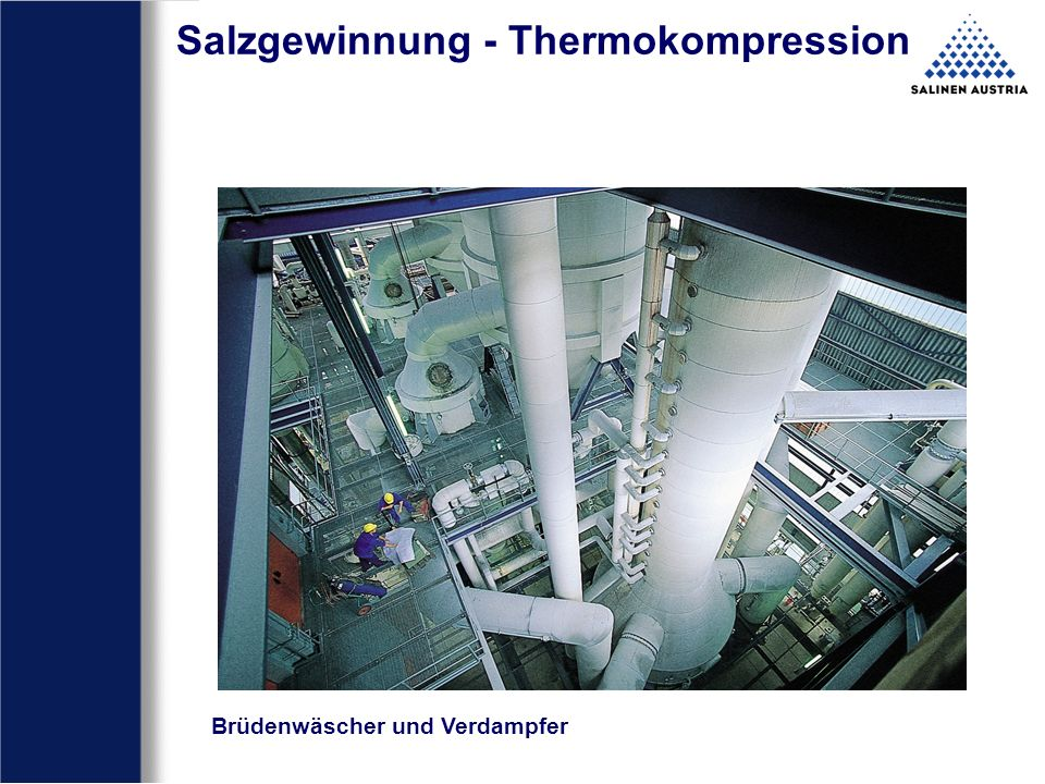 Salzgewinnung - Thermokompression