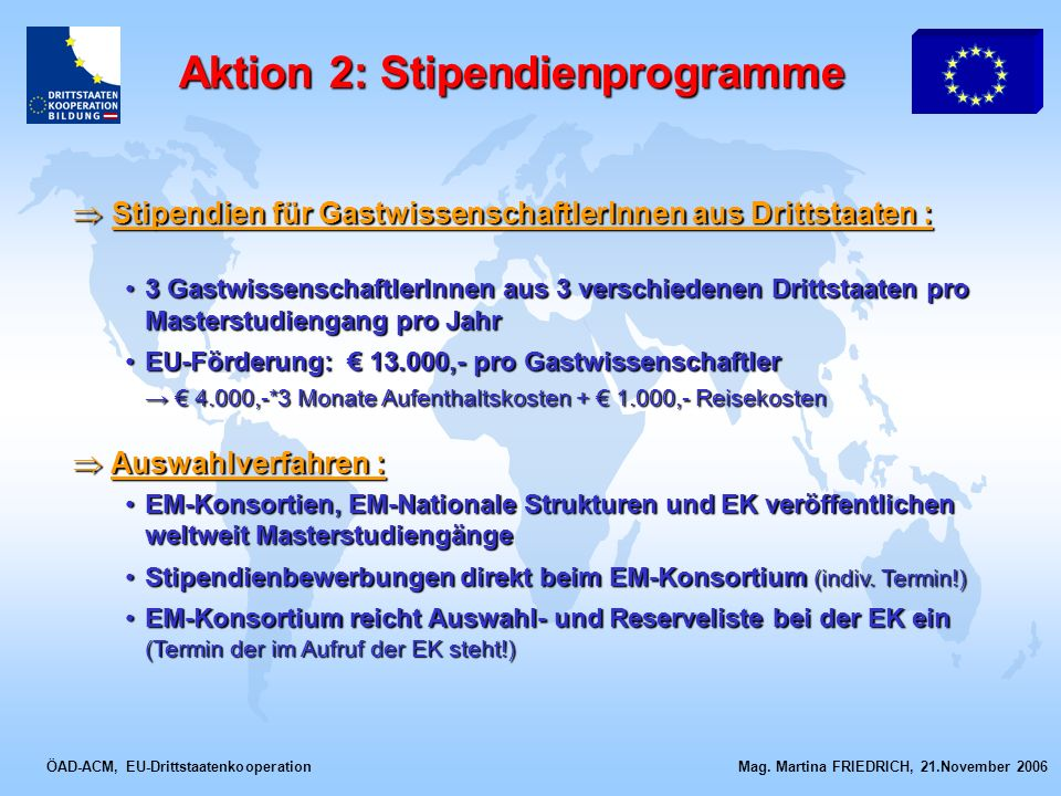 Aktion 2: Stipendienprogramme