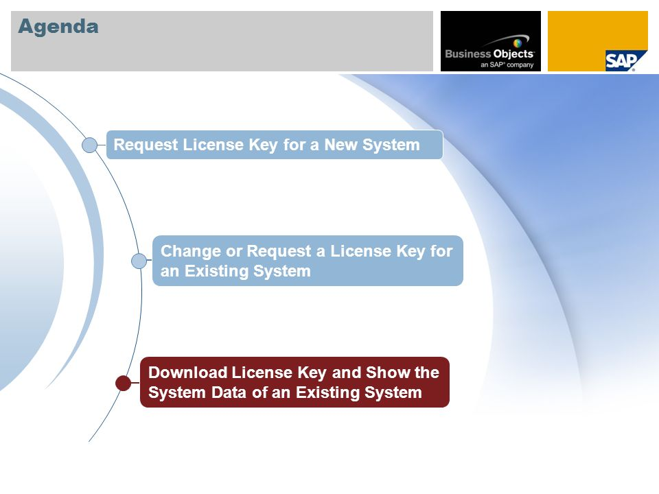 Agenda Request License Key for a New System