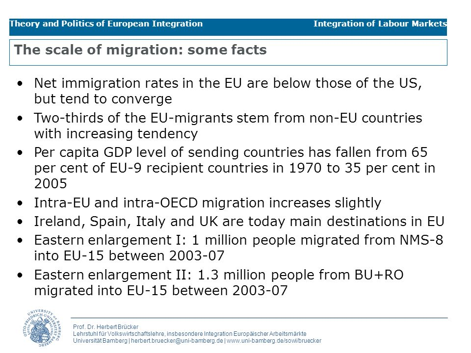 The scale of migration: some facts