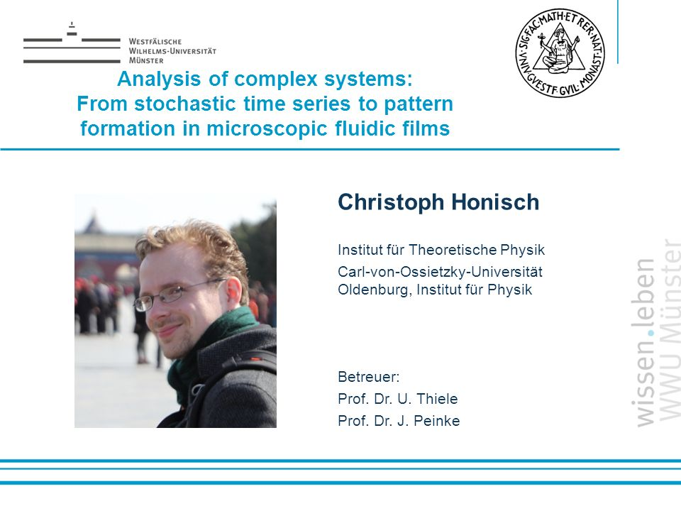 Christoph Honisch Analysis of complex systems: