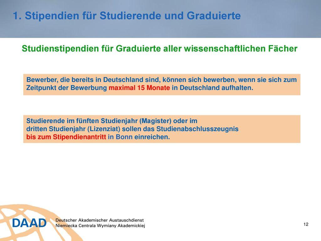 12 Stipendien ...